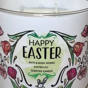 Easter Lily 3-Wick Floral Candle for Spring 2019 Bath /& Body Works Happy Easter Candle